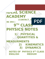 157315472 Complete Notes on 9th Physics by Asif Rasheed