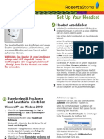 242.Rosetta Stone v3 - Headset Setup - German