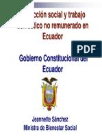 Protecci Protección social y trabajo n social y trabajo doméstico no remunerado en stico no remunerado en Ecuador