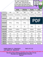 schedule sample