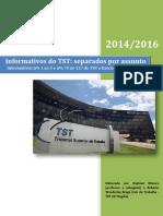 Informativos Do TST Separados Por Assunto 2014-2016