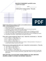 Direct and Inverse Variation Worksheet
