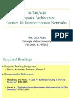 Lec 16 Interconection Network Slices