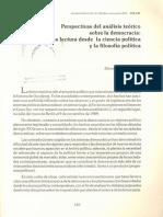 Perspectivas Del Análisis Teórico Sobre La Democracia