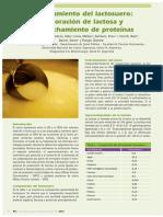 Procesamientodellactosuero Elaboracion de lactosa y aprovechamiento de proteinas