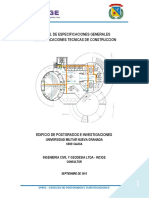 MANUAL DE ESPECIFICACIONES GENERALES Y ESPECIFICACIONES TECNICAS DE CONSTRUCCION