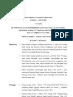 Perda Bontang No 04 Tahun 2009 Restribusi Pelayanan Penerbitan KK,KTP,SKK Dan Akta an Sipil