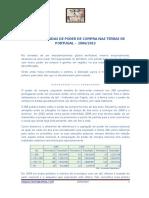 GANHOS E PERDAS DE PODER DE COMPRA NAS TERRAS DE PORTUGAL -  2004/2013