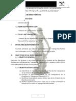 Omision de Beneficios Sociales en La Empresa de Transportes Ramos e.i.r.l Universidad Andina Del Cusco