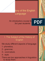 I. the History of the English Language