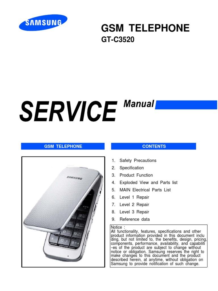 сервис мануал самсунг с3520