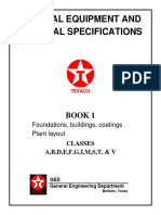 Texaco GEMS (General Equipment and Material Specifications) Table of Contents