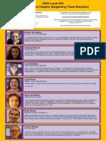 UWP Bargaining Team Candidates
