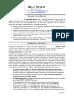 CFO Controller VP Finance in Philadelphia PA Resume Brian Pickett