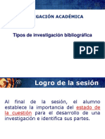 Tipos de Investigacion Bibliografica
