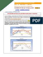 Aviso Hidrológico Ríos Huallaga y Ucayali