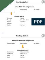 Casting Defect in metals