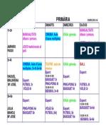 Activitats Complementàries PRIMÀRIA Menjador 15-16