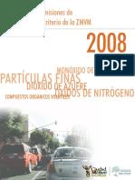 Inventario de Emisiones de 2008, ZMCM