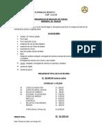 Presupuesto de Refaccion de Vivienda