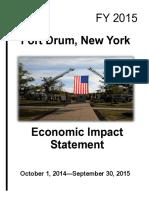 Fort Drum Economic Impact Statement 2015