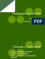 Pedagogia Del Aburrido CAP1