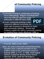 Evolution of Community Policing