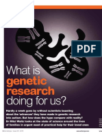 What is genetic research doing for us?