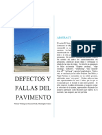 Defectos y Fallas en El Pavimento