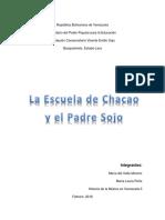 La Escuela de Chacao y El Padre Sojo