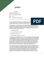 Employment Law Compliance Plan Memorandum