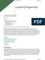 Comparing Java c#