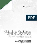 Guia Prueba Aptitud Academica 2014-2015