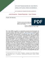 Raventós, Arcarons y Torrens Propuesta de Financiacion-De Una Renta Básica Universal