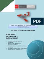 "Empresa Deportiva - Mã""Dulo III - Semana 2 -g5"