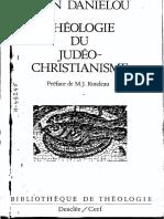 Daniélou, Histoire Des Doctrines Chrétiennes, I Theologie