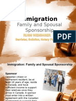 Canadian Sponsorship of Family and Spousal
