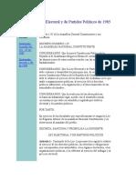 Ley Electoral y de Partidos Políticos