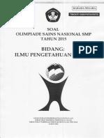 Soal Osk Ips Smp 2015