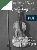 nicolo paganini - 24 capricho arranged for electric guitar.pdf