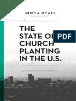 NewChurches.com State of Church Planting in the U.S. 2015 Report 1