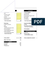 Balance Sheet Corrected