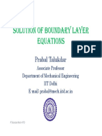Solution to Boundary Layer Theory
