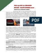 HAITÍ Enero 2016- La Crónica solidaria