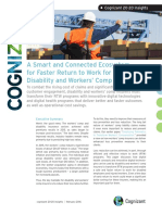 A Smart and Connected Ecosystem for Faster Return to Work for Disability and Workers' Comp Insurers