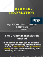 Richelle- Grammar Translation Method