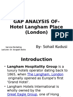 Gap Analysis Hotel Langham