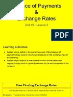 unit 15 - lesson 3 - balance of payments    exchange rates  1