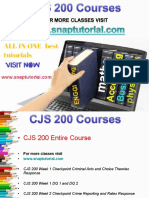 CJS 200 Proactive Tutors/snaptutorial