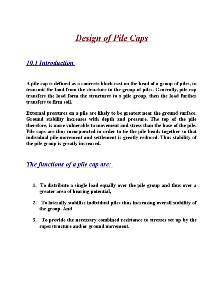 Design of Pile Caps Final | Deep Foundation | Beam (Structure)
